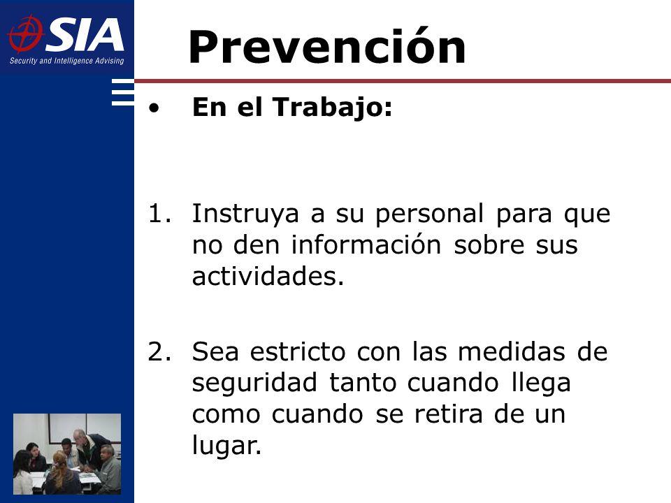 Prevención En el Trabajo: