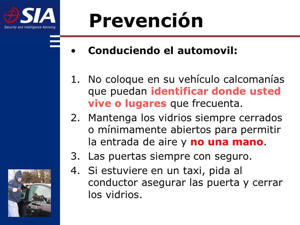 Prevención Conduciendo el automovil: