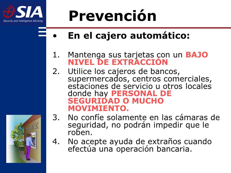 Prevención En el cajero automático: