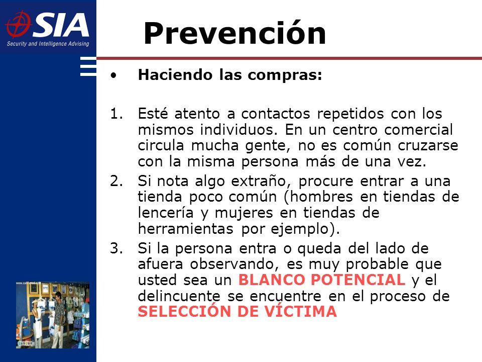 Prevención Haciendo las compras: