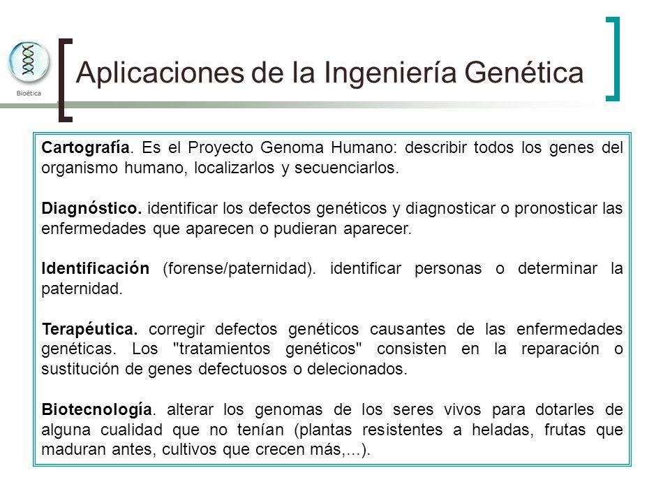 Aplicaciones de la Ingeniería Genética