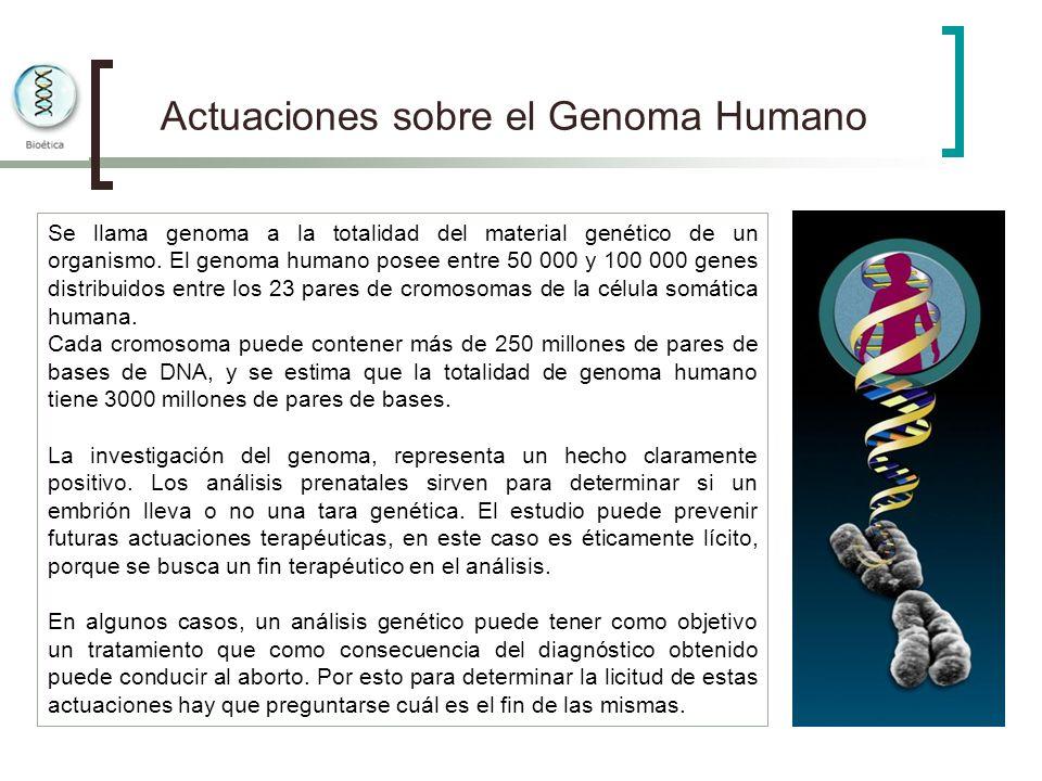 Actuaciones sobre el Genoma Humano