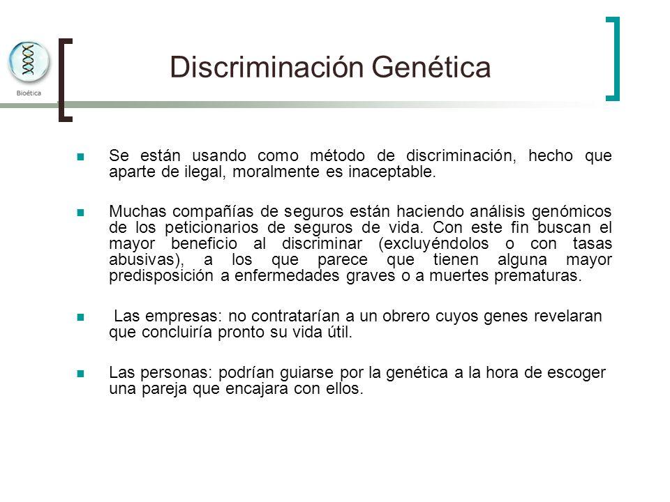 Discriminación Genética