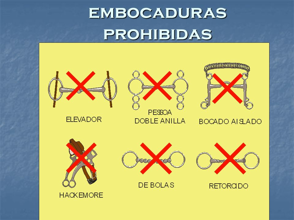 embocaduras prohibidas