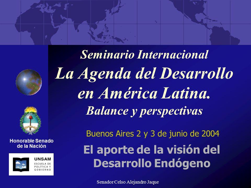 El aporte de la visión del Desarrollo Endógeno