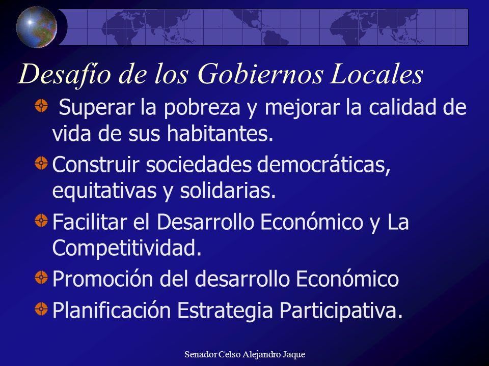 Desafío de los Gobiernos Locales