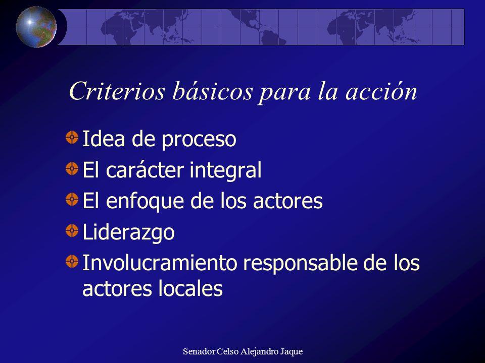 Criterios básicos para la acción