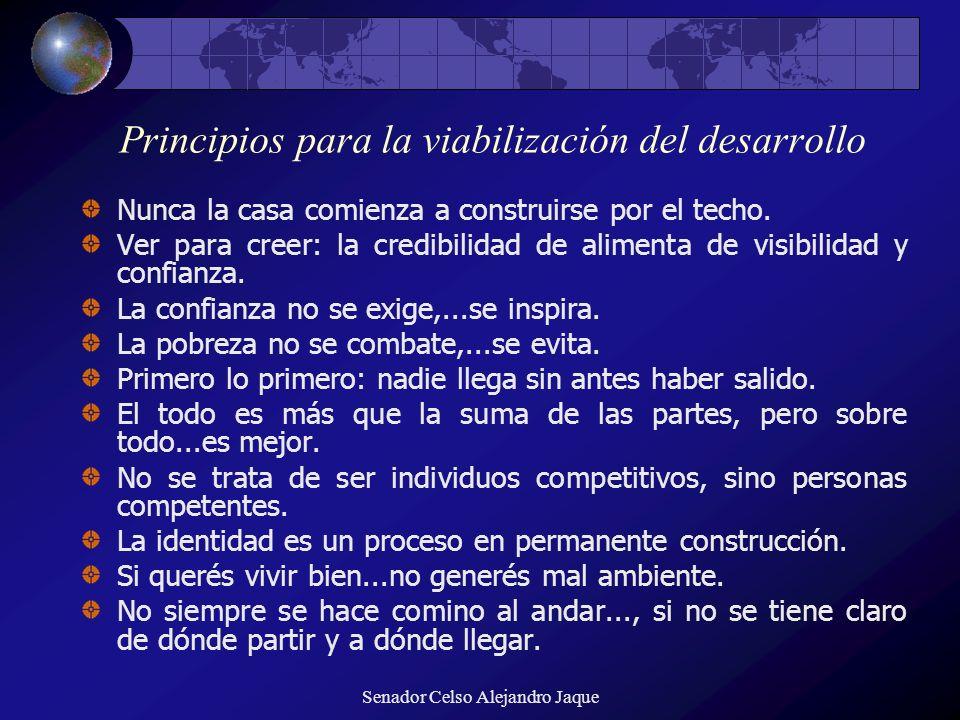 Principios para la viabilización del desarrollo