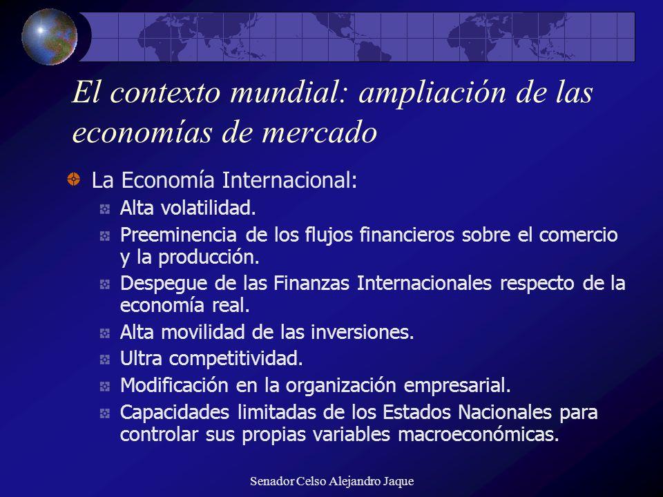 El contexto mundial: ampliación de las economías de mercado