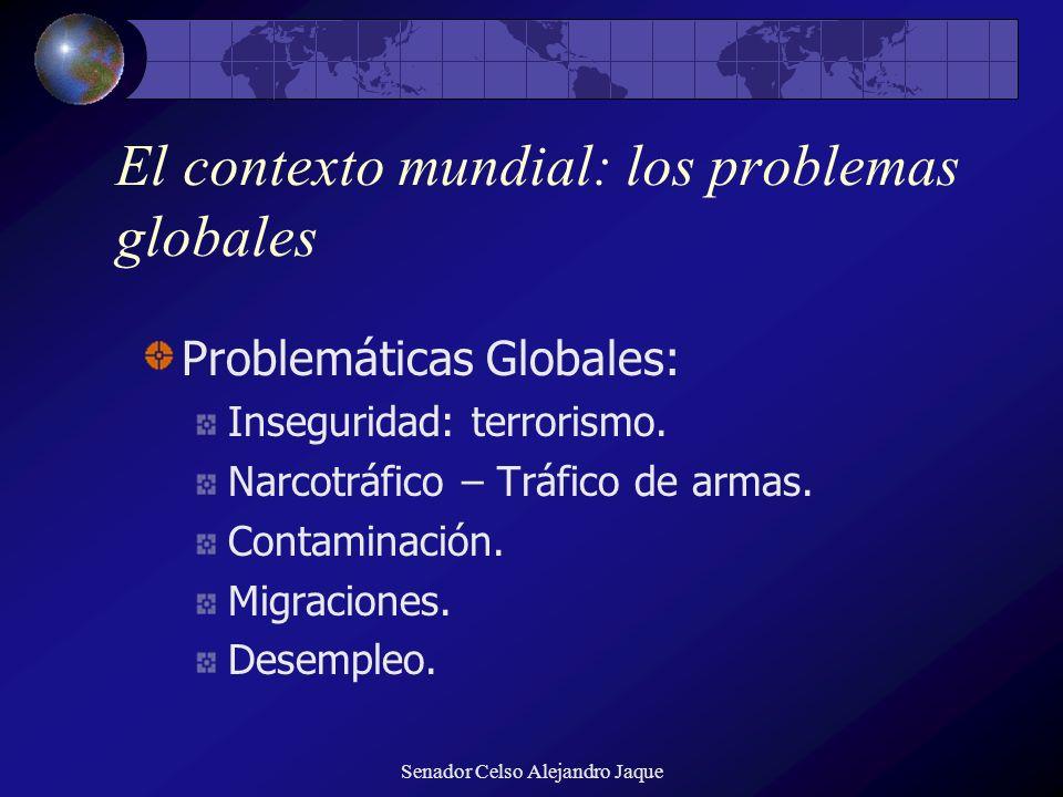 El contexto mundial: los problemas globales