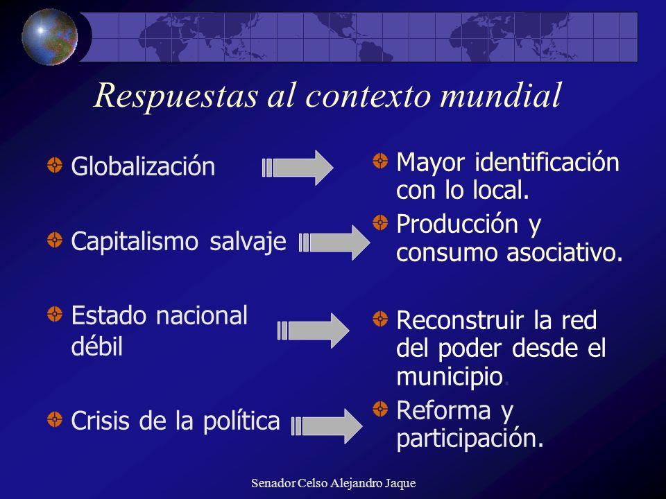 Respuestas al contexto mundial