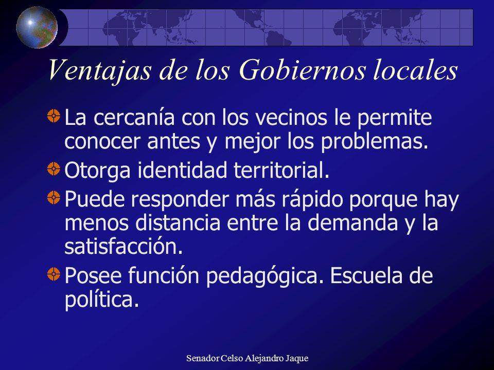 Ventajas de los Gobiernos locales