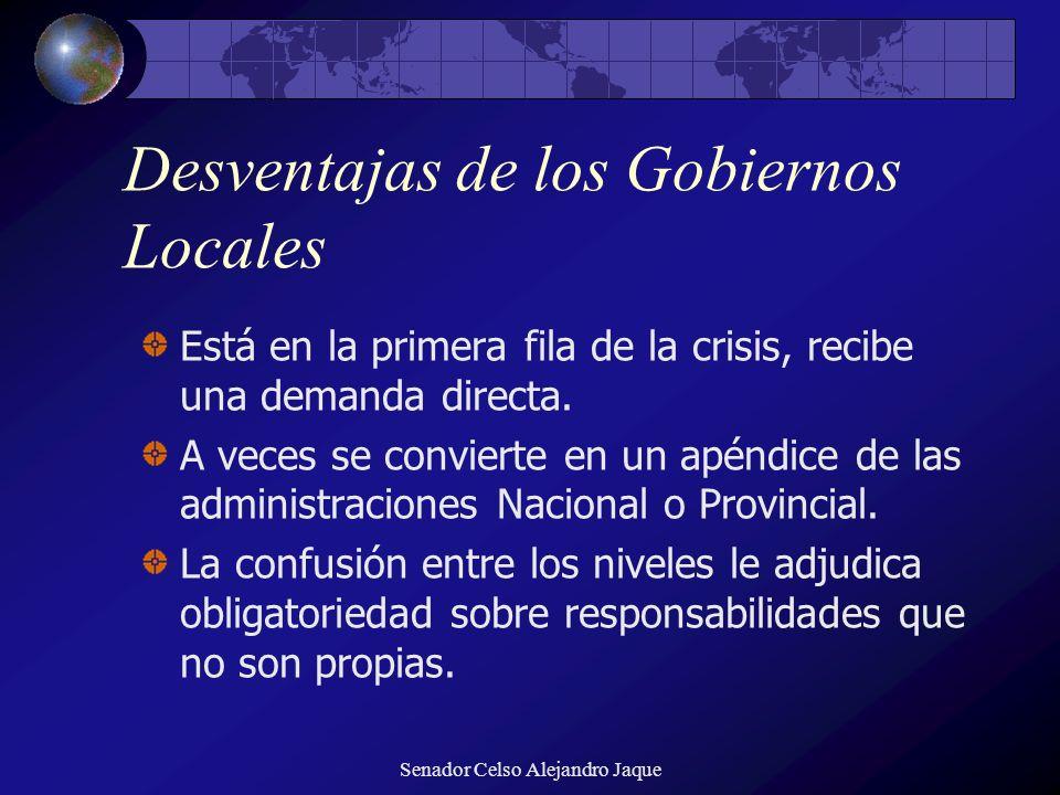 Desventajas de los Gobiernos Locales