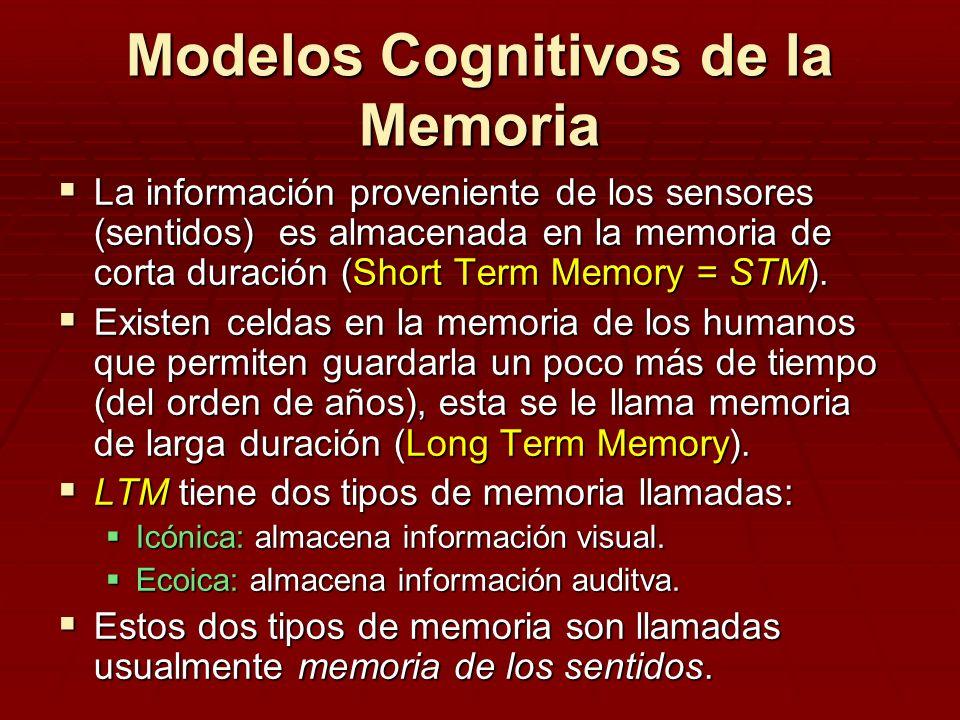 Modelos Cognitivos de la Memoria