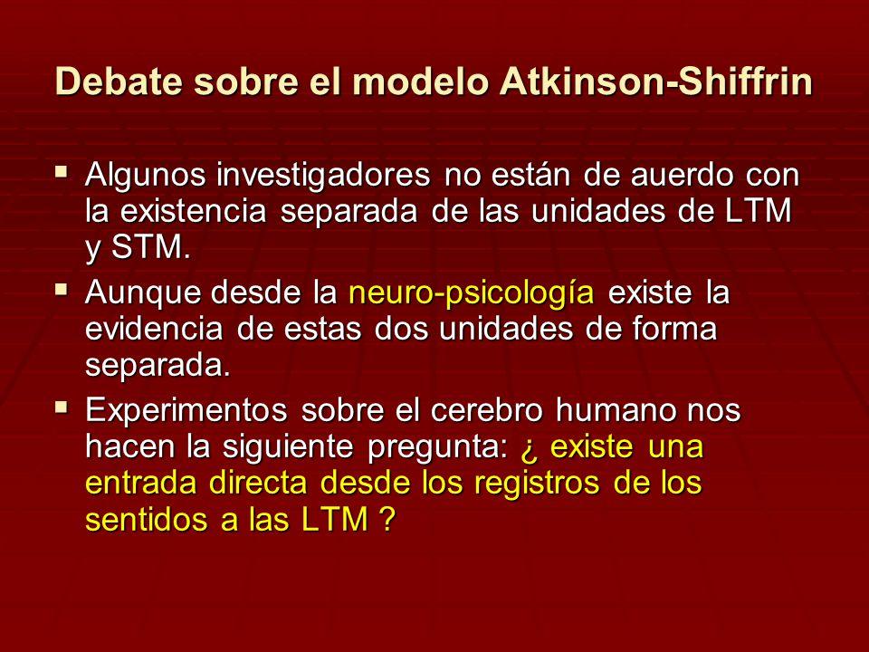 Debate sobre el modelo Atkinson-Shiffrin