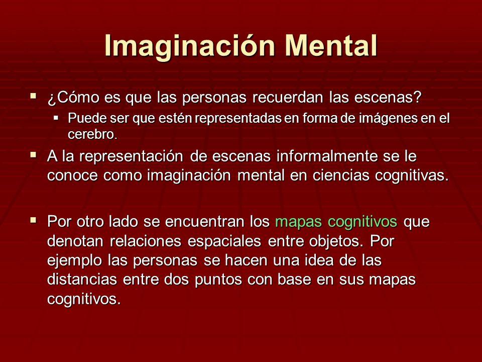 Imaginación Mental ¿Cómo es que las personas recuerdan las escenas