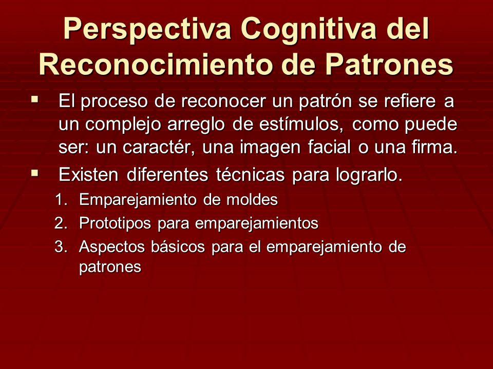 Perspectiva Cognitiva del Reconocimiento de Patrones