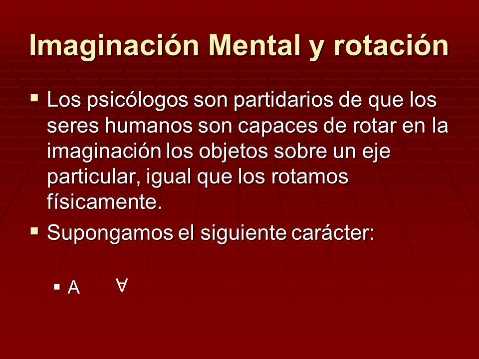 Imaginación Mental y rotación