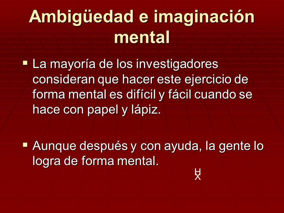 Ambigüedad e imaginación mental