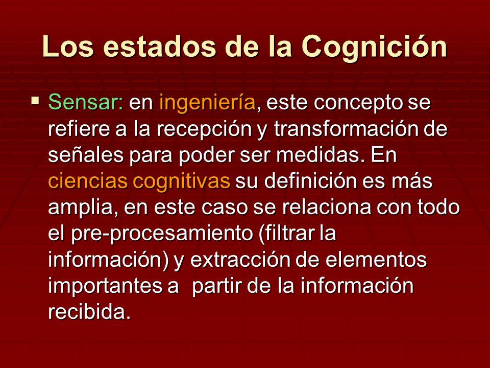 Los estados de la Cognición