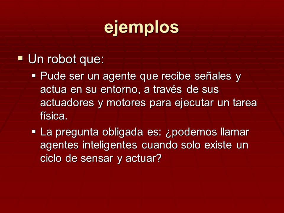 ejemplos Un robot que: