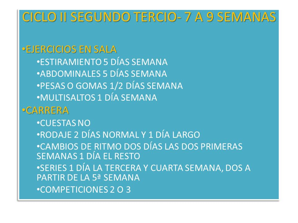 CICLO II SEGUNDO TERCIO- 7 A 9 SEMANAS