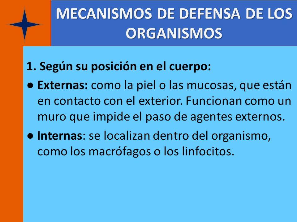 MECANISMOS DE DEFENSA DE LOS ORGANISMOS