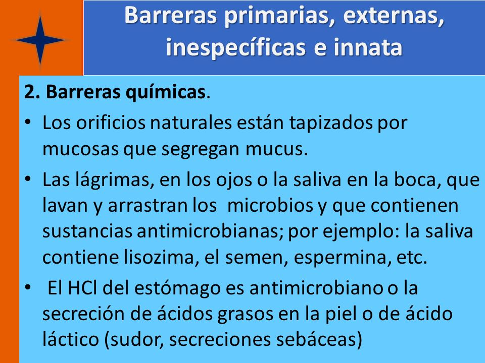 Barreras primarias, externas, inespecíficas e innata