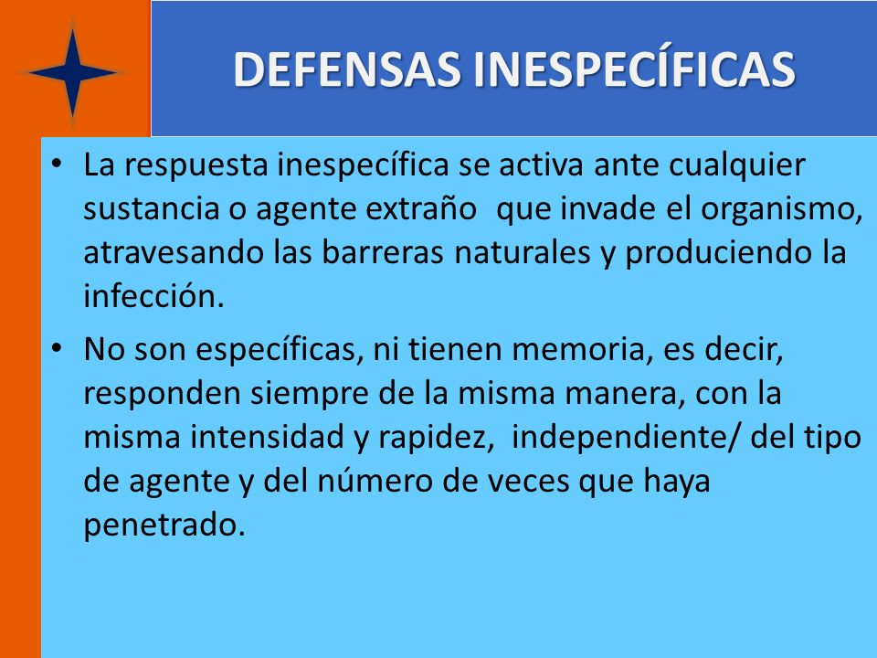 DEFENSAS INESPECÍFICAS