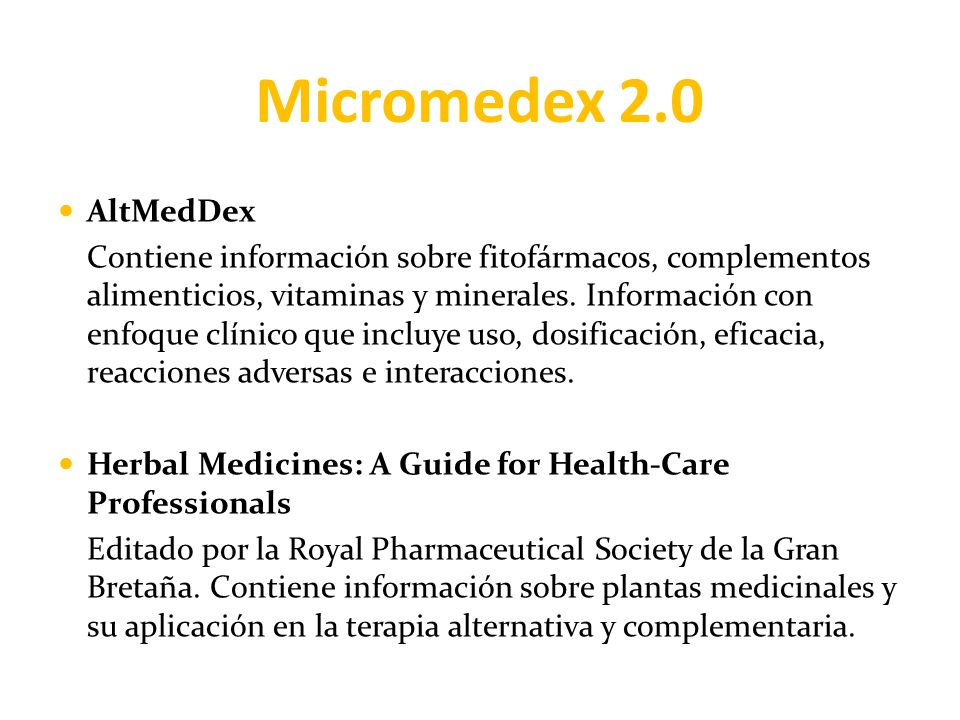 Micromedex 2.0 AltMedDex.