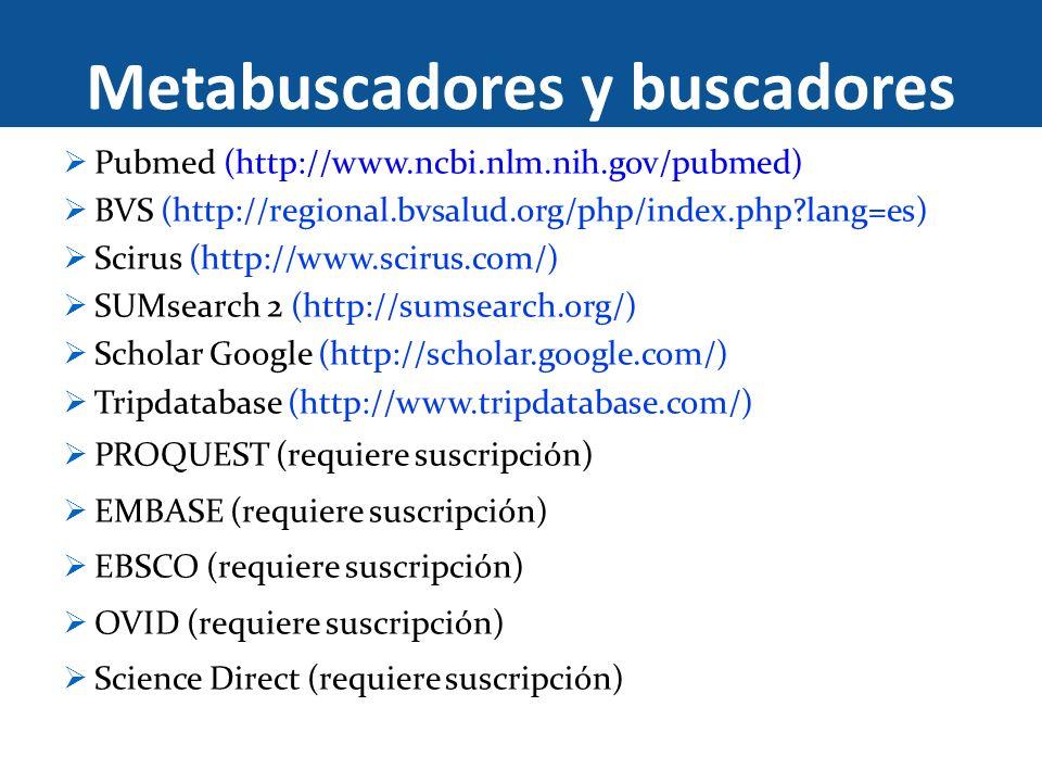 Metabuscadores y buscadores