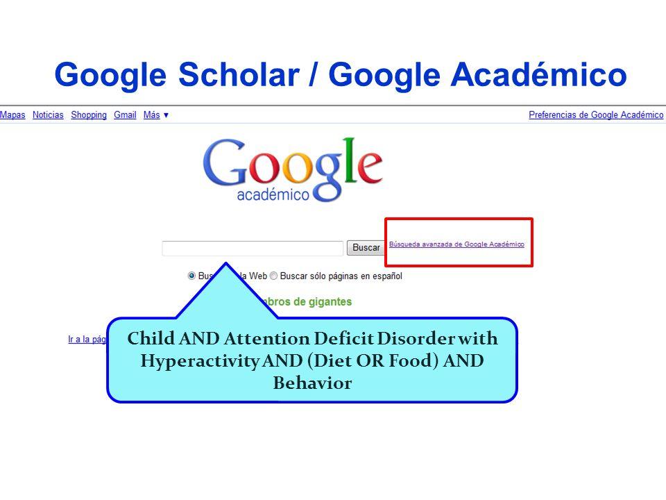 Google Scholar / Google Académico