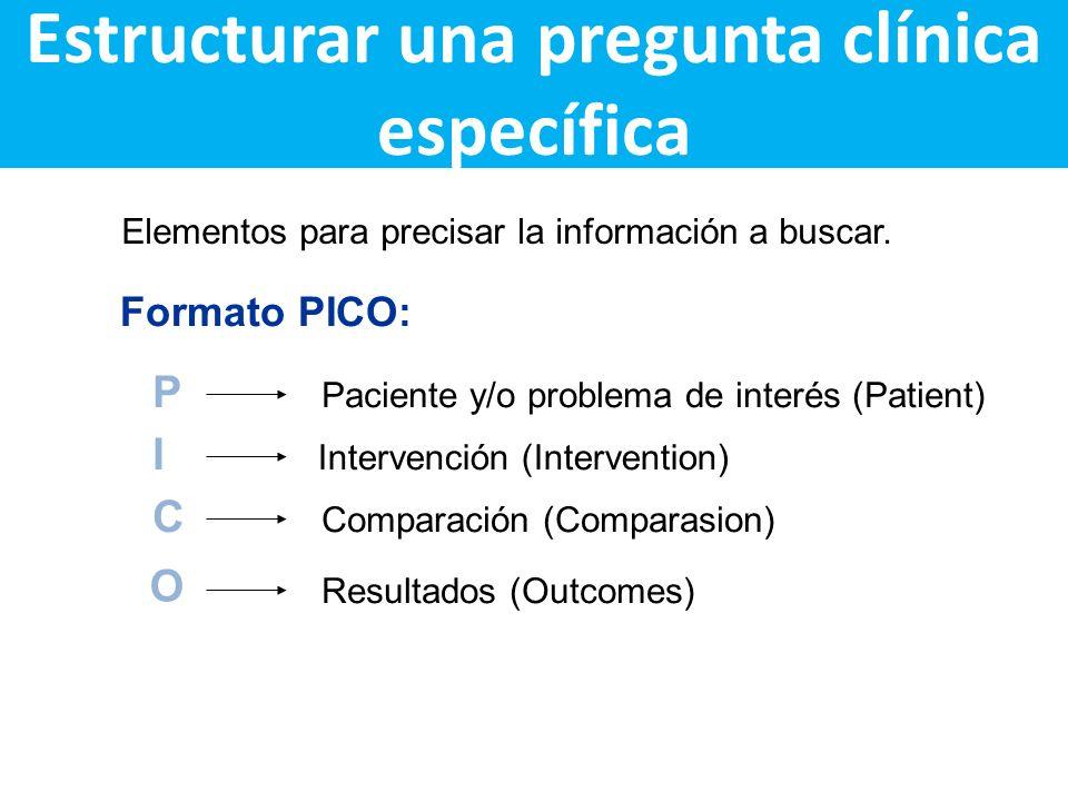 Estructurar una pregunta clínica específica