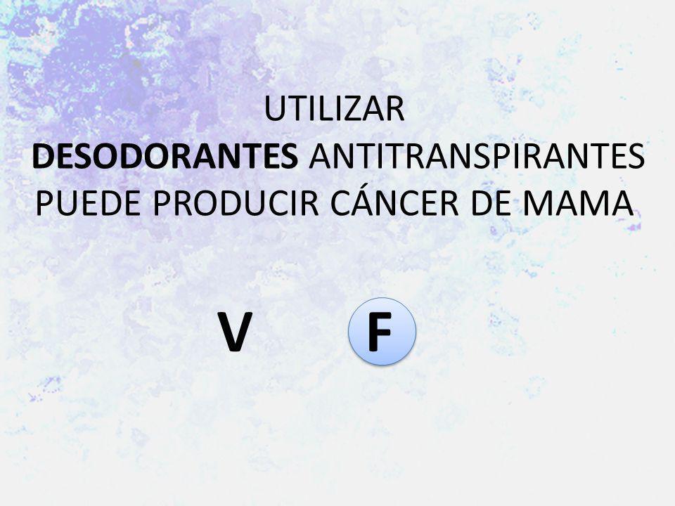 UTILIZAR DESODORANTES ANTITRANSPIRANTES PUEDE PRODUCIR CÁNCER DE MAMA