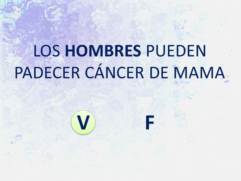 LOS HOMBRES PUEDEN PADECER CÁNCER DE MAMA