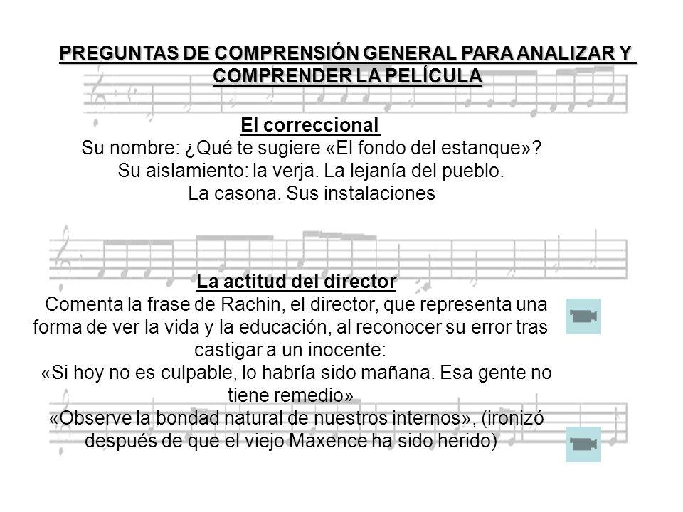 PREGUNTAS DE COMPRENSIÓN GENERAL PARA ANALIZAR Y