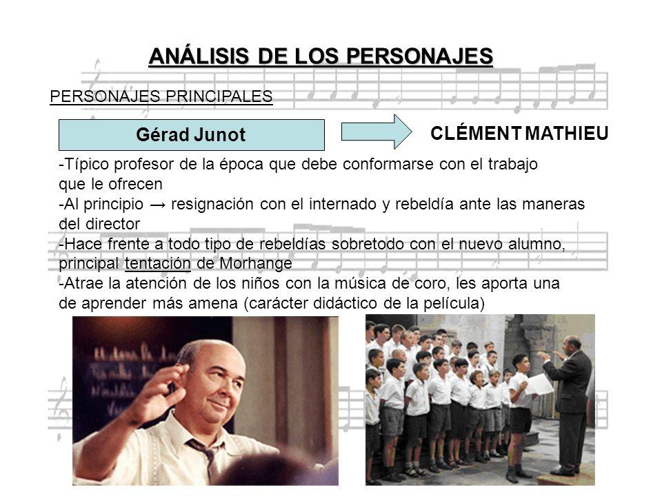ANÁLISIS DE LOS PERSONAJES