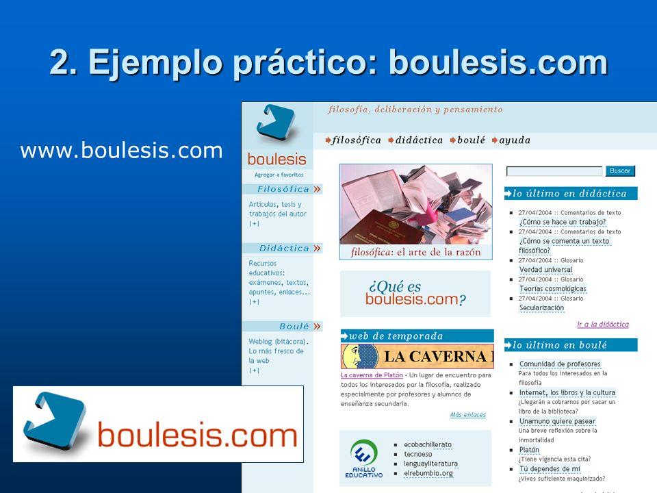 2. Ejemplo práctico: boulesis.com