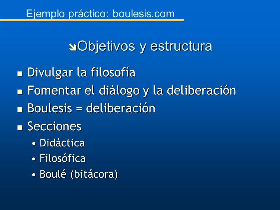 Objetivos y estructura