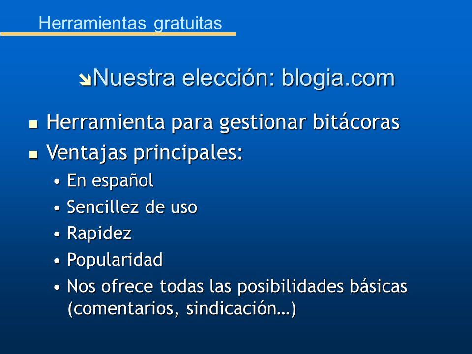 Nuestra elección: blogia.com