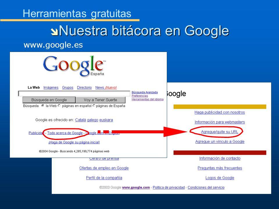 Nuestra bitácora en Google