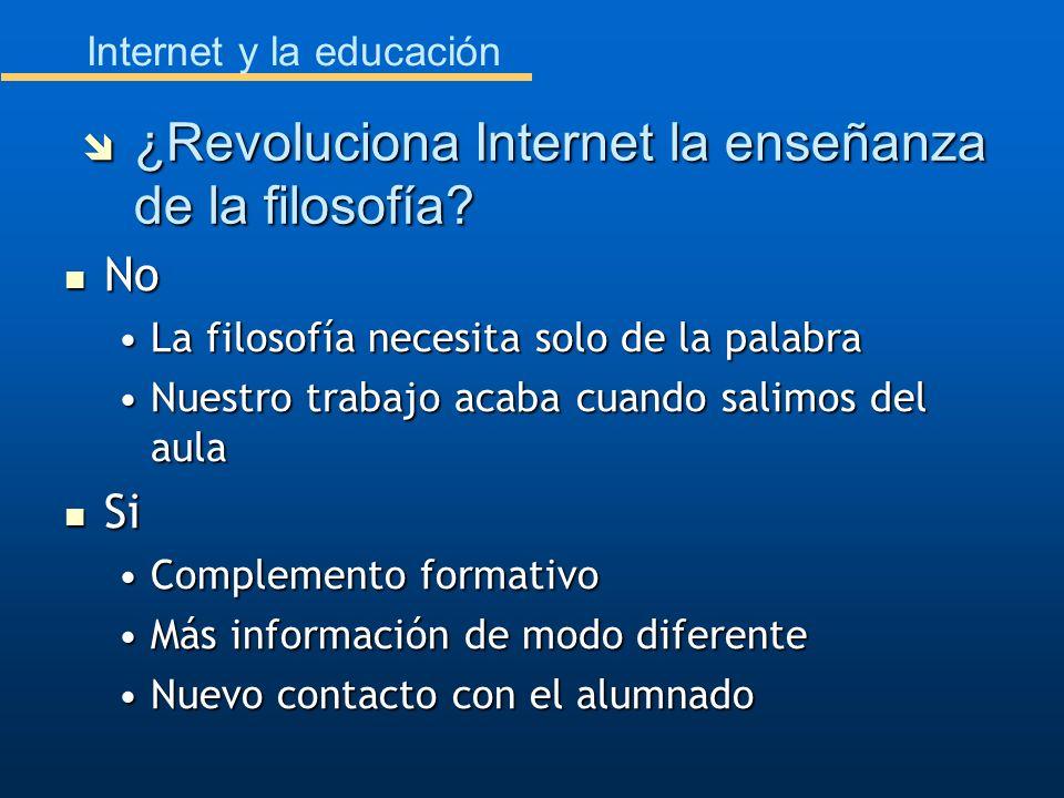 Internet y la educación