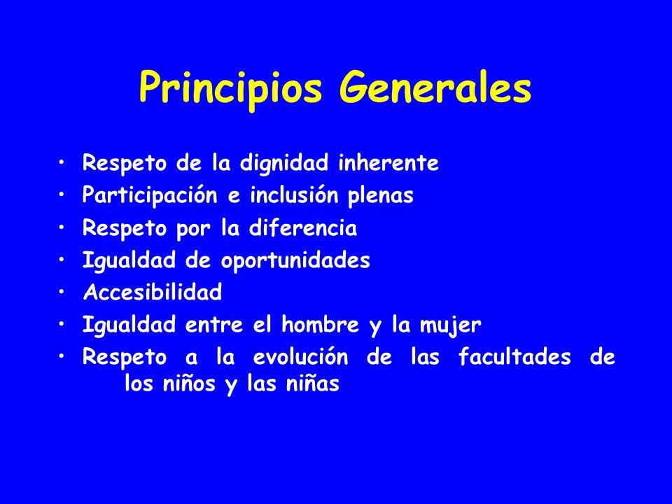 Principios Generales Respeto de la dignidad inherente
