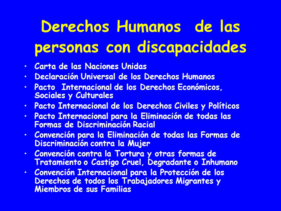 Derechos Humanos de las personas con discapacidades