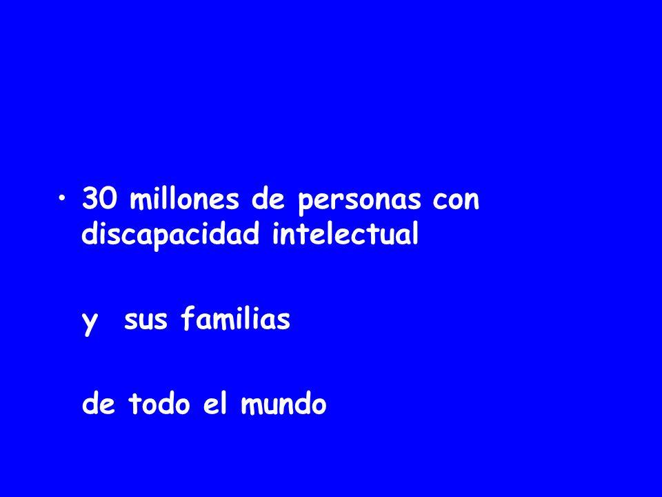 30 millones de personas con discapacidad intelectual