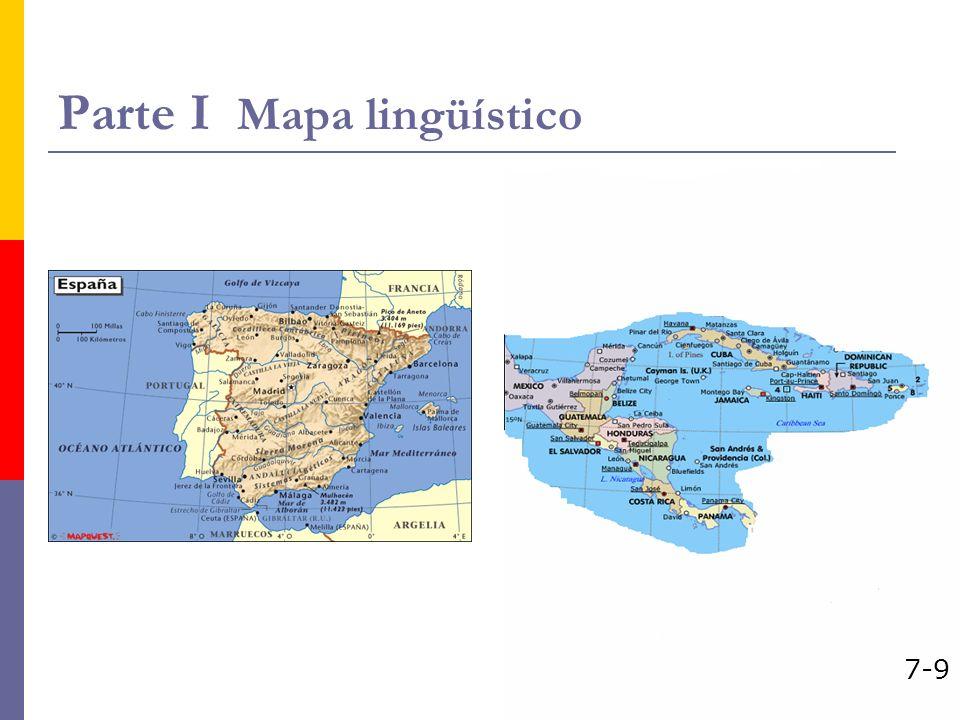 Parte I Mapa lingüístico