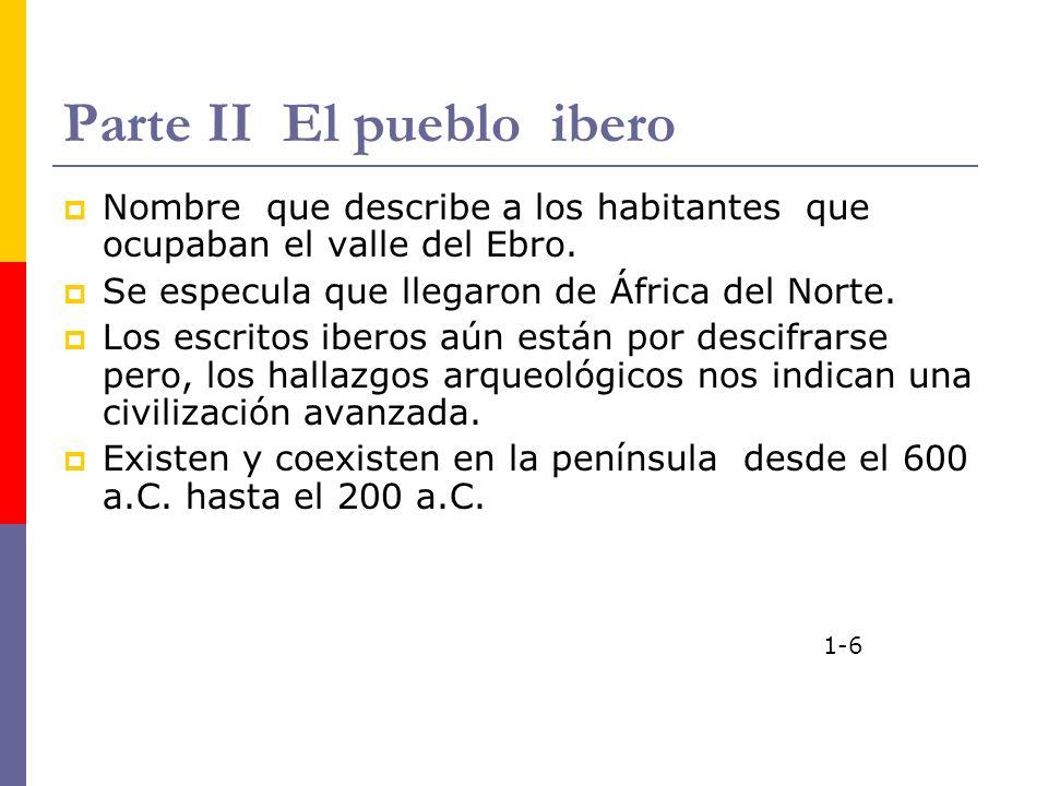 Parte II El pueblo ibero