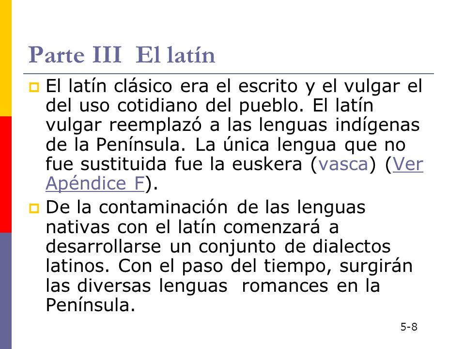 Parte III El latín