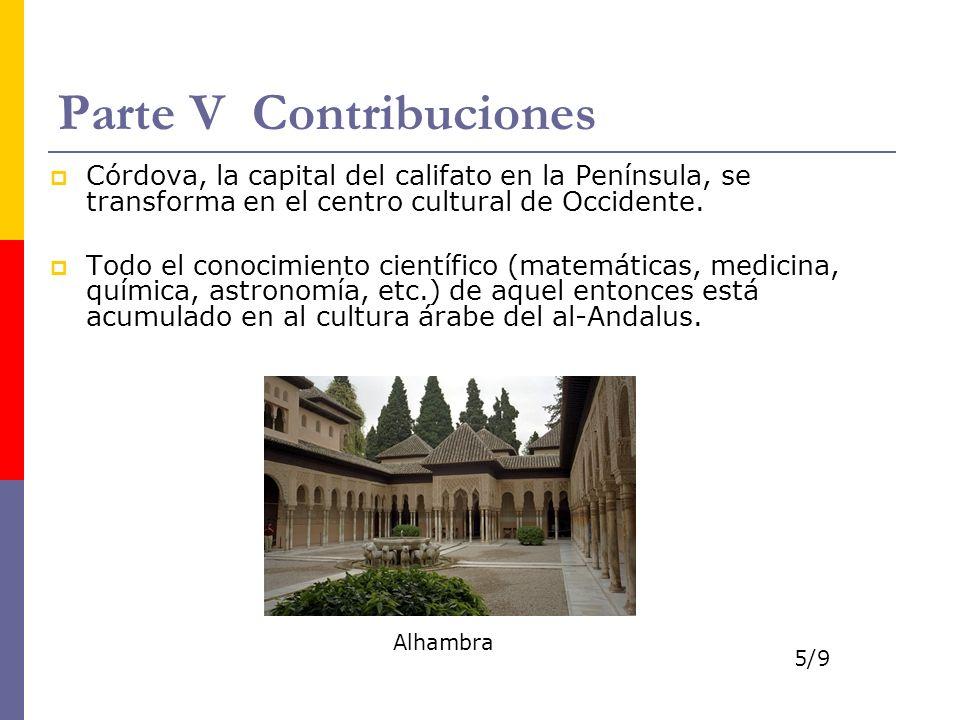 Parte V Contribuciones
