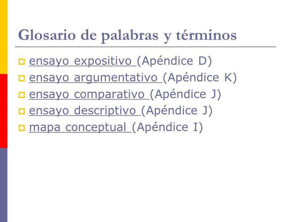 Glosario de palabras y términos